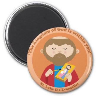 St. Luke the Evangelist 6 Cm Round Magnet