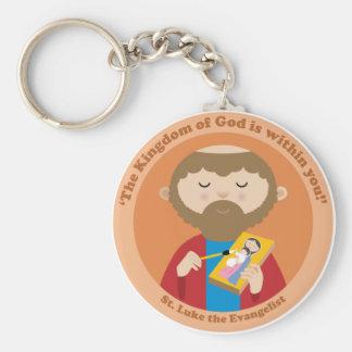 St. Luke the Evangelist Basic Round Button Key Ring
