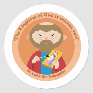 St. Luke the Evangelist Classic Round Sticker