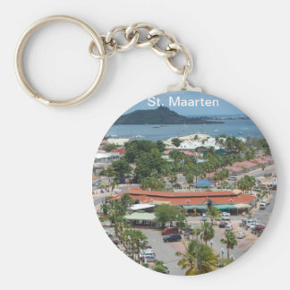 St. Maarten - Marigot Bay Basic Round Button Key Ring