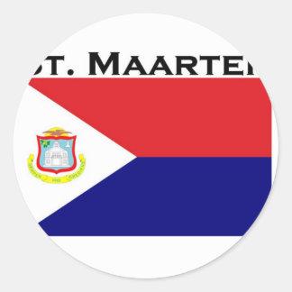 St. Maarten Round Sticker
