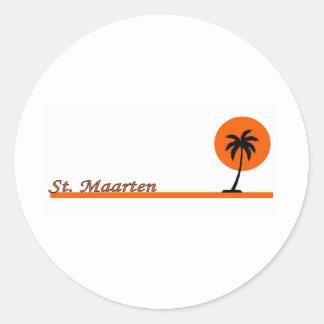 St. Maarten Round Stickers