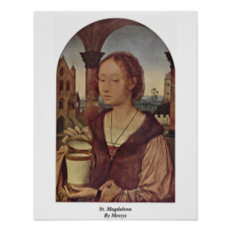 St Magdalena By Messys Metzys Print