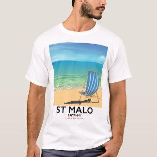 St Malo, Britanny Beach poster T-Shirt