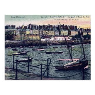 St Malo France Seaport Postcard