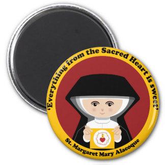 St. Margaret Mary Alacoque 6 Cm Round Magnet