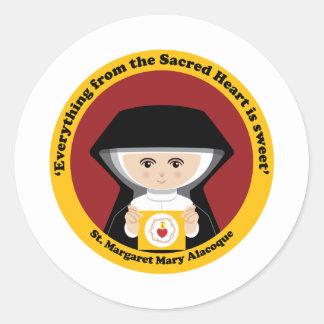 St. Margaret Mary Alacoque Classic Round Sticker