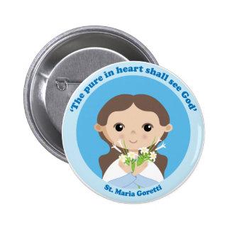 St. Maria Goretti 6 Cm Round Badge