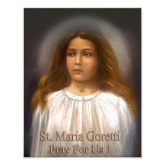 St. Maria Goretti, Martyr for Purity, Photo Print