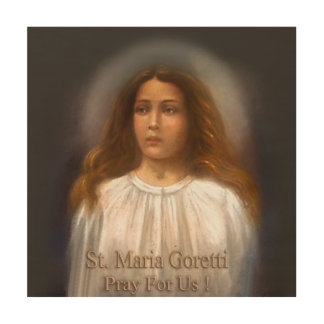 St. Maria Goretti, Martyr for Purity, Wood Canvas
