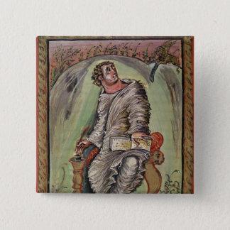 St. Mark at his desk 15 Cm Square Badge
