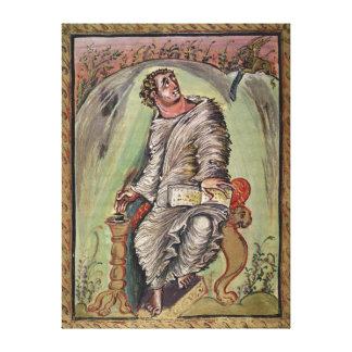 St. Mark at his desk Canvas Print