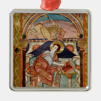 St. Mark, French Silver-Colored Square Decoration