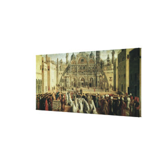 St. Mark Preaching in Alexandria, Egypt, 1504-07 Canvas Print