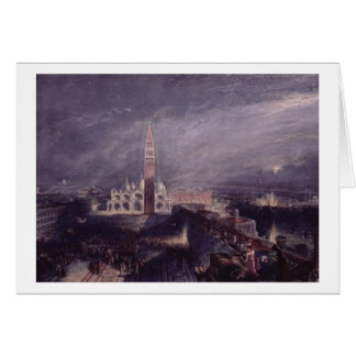 St Mark s Place Venice Moonlight engraved by G Card