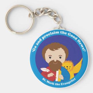 St. Mark the Evangelist Basic Round Button Key Ring