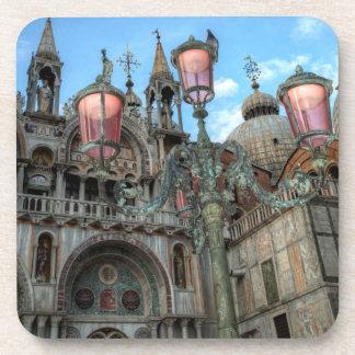 St. Marks and Lamp, Venice, Italy Coaster