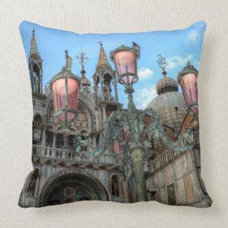St. Marks and Lamp, Venice, Italy Cushion