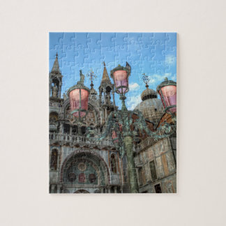 St. Marks and Lamp, Venice, Italy Jigsaw Puzzle