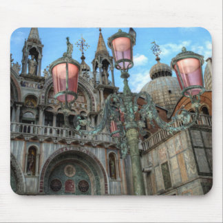 St. Marks and Lamp, Venice, Italy Mouse Mat