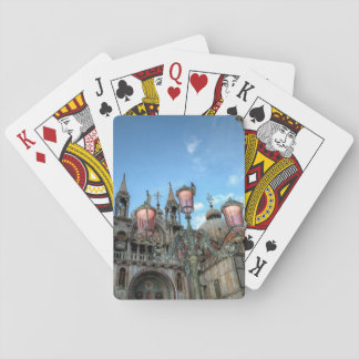 St. Marks and Lamp, Venice, Italy Playing Cards