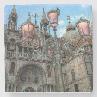 St. Marks and Lamp, Venice, Italy Stone Coaster