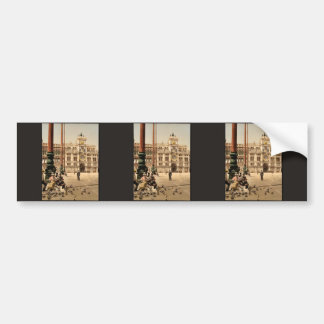 St. Mark's Place and Clock, Venice, Italy classic Bumper Sticker