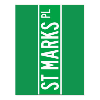 St. Mark's Place, New York Street Sign Post Cards