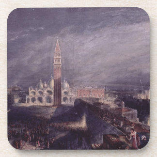 St. Mark's Place, Venice (Moonlight) engraved by G Coaster