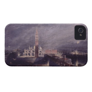 St. Mark's Place, Venice (Moonlight) engraved by G iPhone 4 Cases