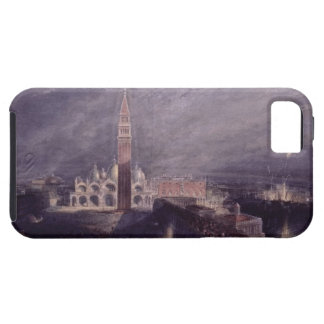 St. Mark's Place, Venice (Moonlight) engraved by G iPhone 5 Cases
