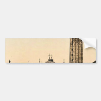 St. Mark's Place, with campanile, Venice, Italy cl Bumper Stickers