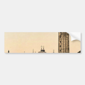 St. Mark's Place, with campanile, Venice, Italy cl Bumper Sticker