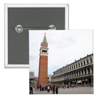St Mark's Square in Venice, Italy 2 Inch Square Button