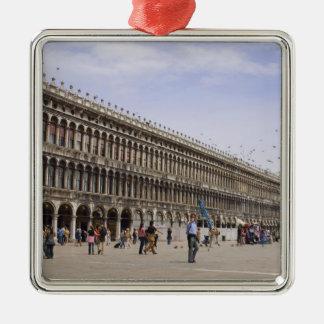 St. Mark's Square, Venice, Italy Silver-Colored Square Decoration