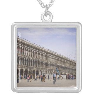 St. Mark's Square, Venice, Italy Silver Plated Necklace