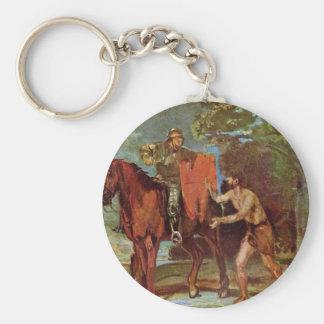 St. Martin And The Beggar By Marées Hans Von Key Chains