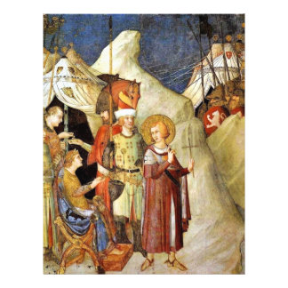 St Martin Leaves The Life Of Chivalry And Renounce 21.5 Cm X 28 Cm Flyer