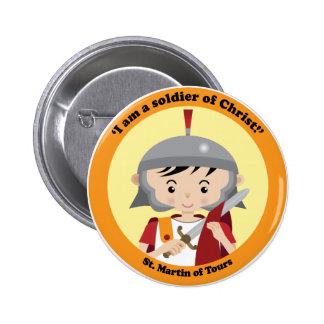 St. Martin of Tours 6 Cm Round Badge