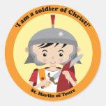 St. Martin of Tours Round Sticker