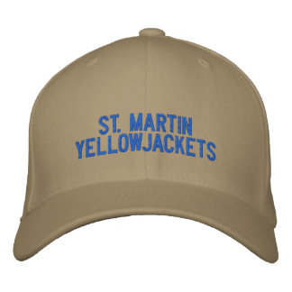 ST. Martin Yellowjackets hat Embroidered Baseball Caps