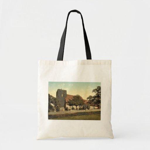 St. Martin's Church, Canterbury, England classic P Tote Bags