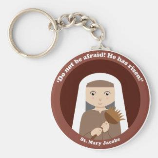 St. Mary Jacobe Basic Round Button Key Ring