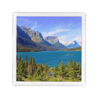 St. Mary Lake,  Glacier National Park,  Montana Acrylic Tray