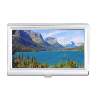 St. Mary Lake,  Glacier National Park,  Montana Business Card Holder