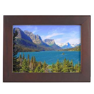 St. Mary Lake,  Glacier National Park,  Montana Keepsake Box