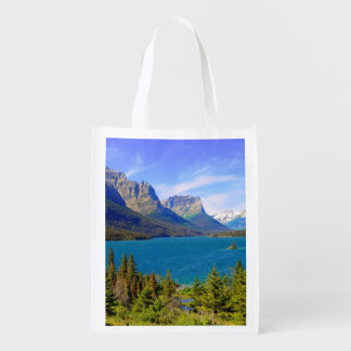St. Mary Lake,  Glacier National Park,  Montana Reusable Grocery Bag