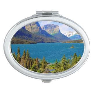 St. Mary Lake,  Glacier National Park,  Montana Vanity Mirror