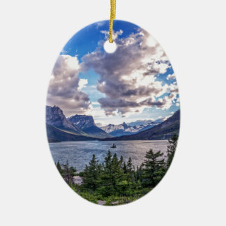 St. Mary Lake Sunset Christmas Ornament