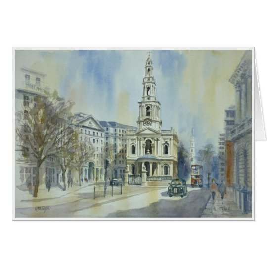St Mary le Strand London Card